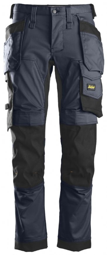 Snickers 6241 AllroundWork Stretch Work Trousers with Holster Pockets (Navy/Black)